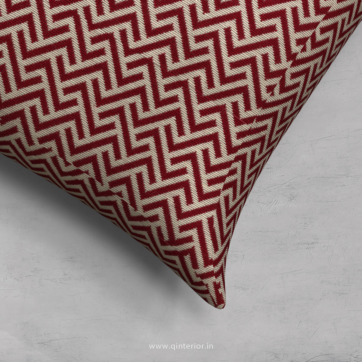 Red Zigzag Cushion With Cushion Cover - CUS001 BG