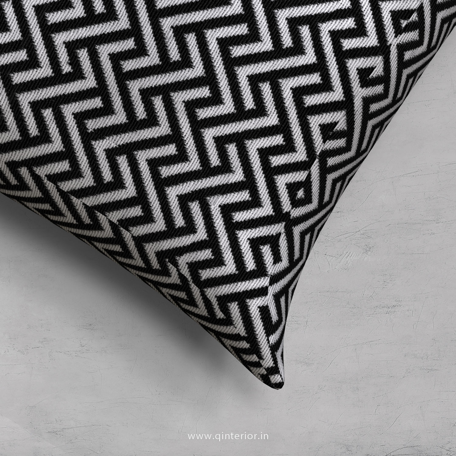 Black Zigzag Cushion With Cushion Cover - CUS001 BG