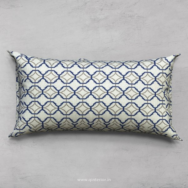 Blue Jaquard Cushion With Cushion Cover - CUS002 JQ