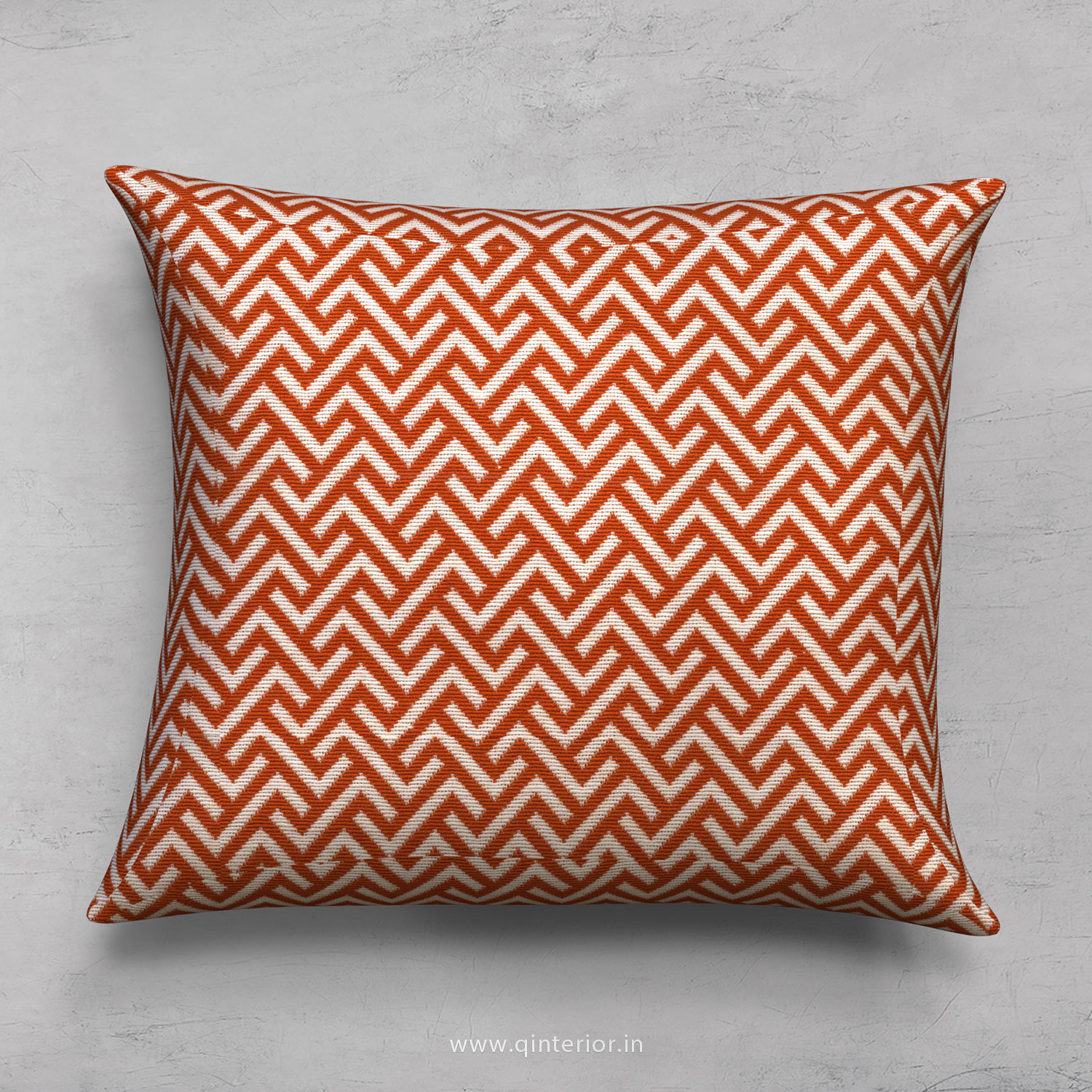 Orange Zigzag Cushion With Cushion Cover - CUS001 BG