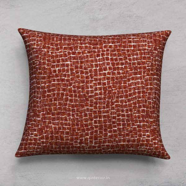 Red Jaquard Cushion With Cushion Cover - CUS001 JQ33