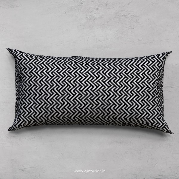 Black Zigzag Cushion With Cushion Cover - CUS002 JQ