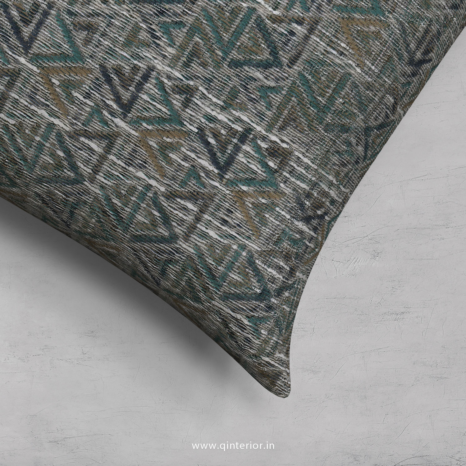 Green Jaquard Cushion With Cushion Cover - CUS001 JQ