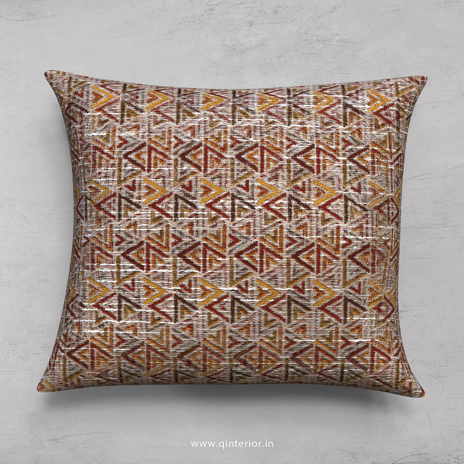 Maroon Jaquard Cushion With Cushion Cover - CUS001 JQ
