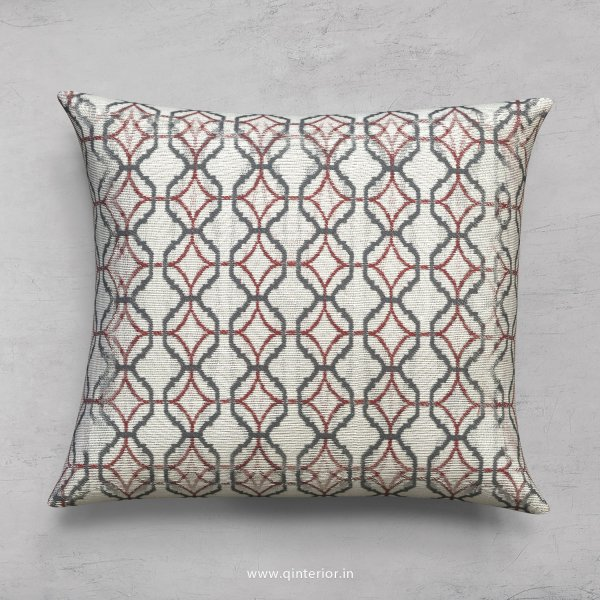Red Jaquard Cushion With Cushion Cover - CUS001 JQ