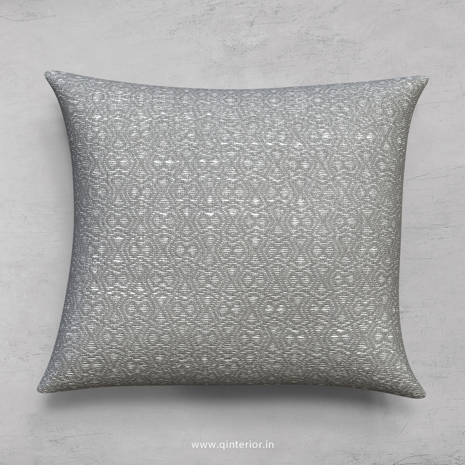 Grey Bargello Cushion With Cushion Cover - CUS001 BG