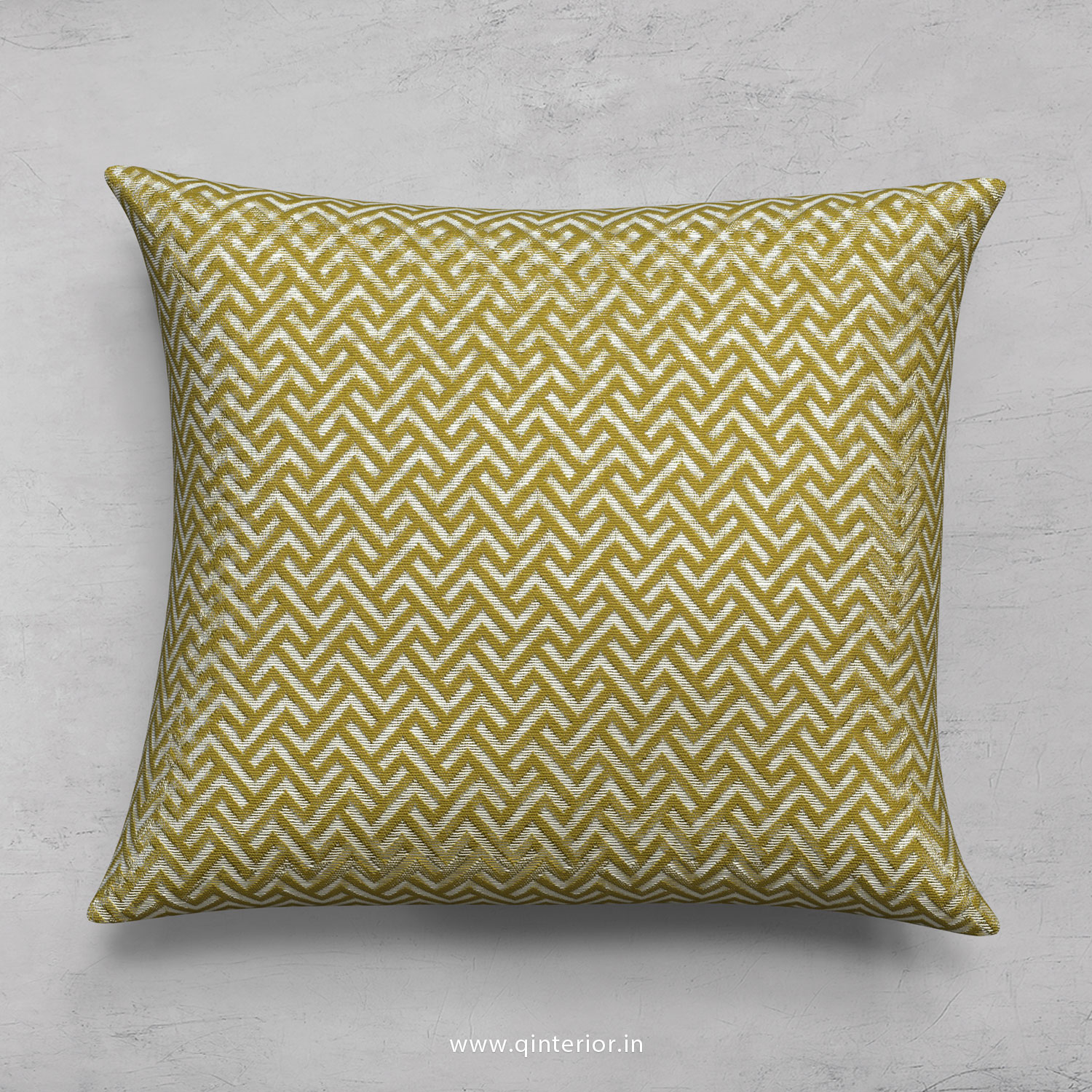 Yellow Zigzag Cushion With Cushion Cover - CUS001