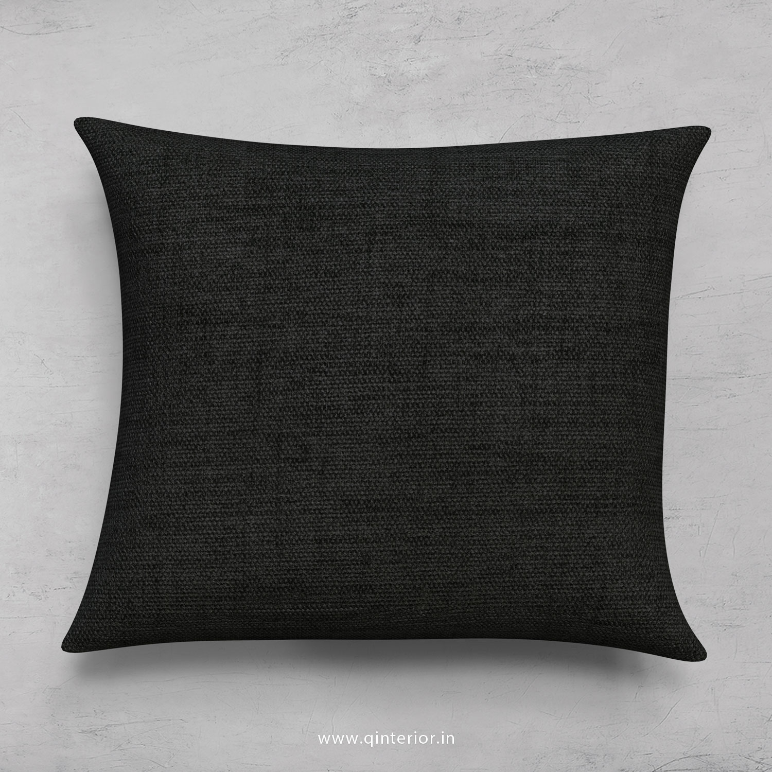 Black Jaquard Cushion With Cushion Cover - CUS001 JQ