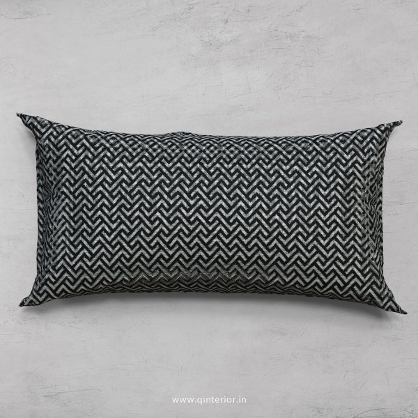 Black Zigzag Cushion With Cushion Cover - CUS001 JQ