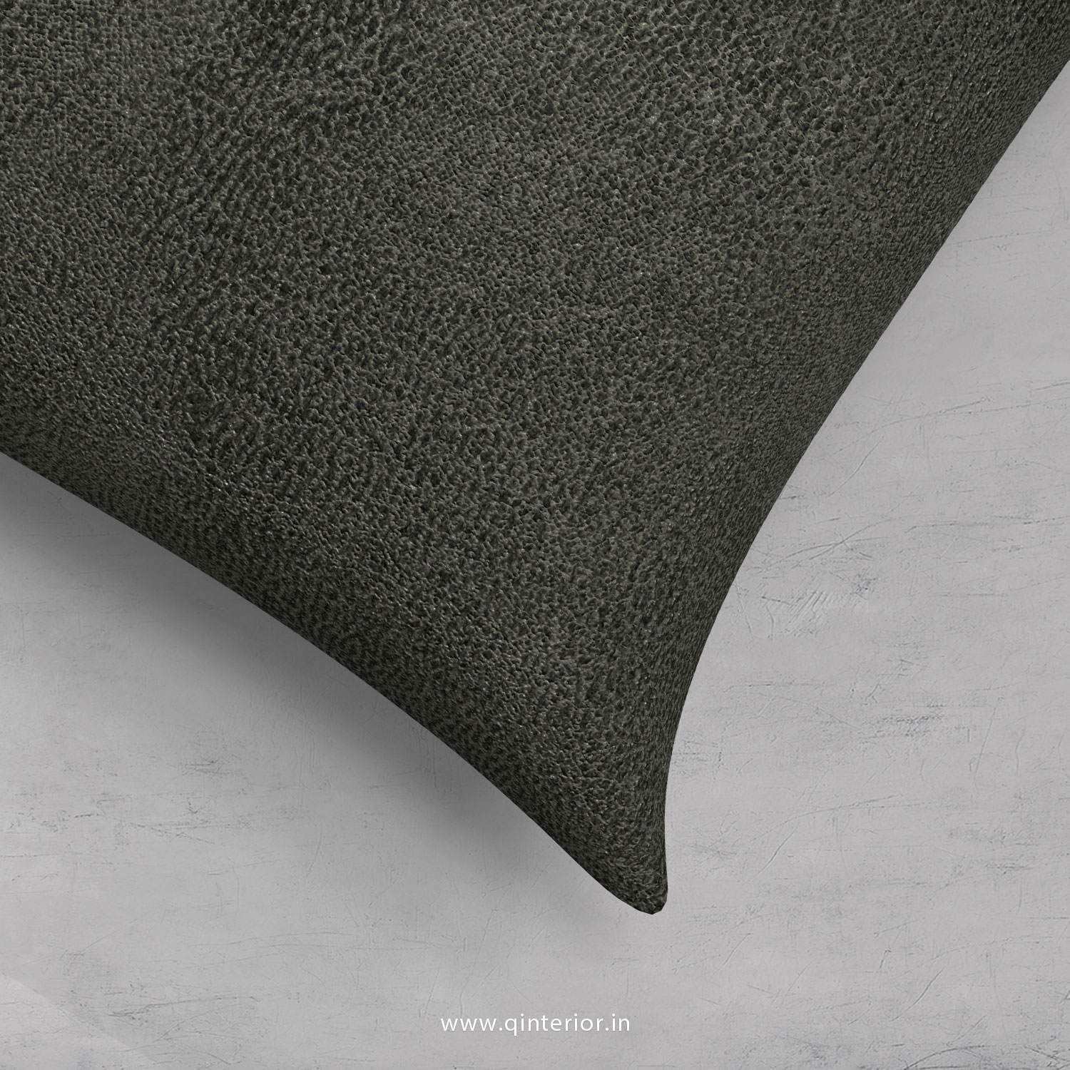 Charcoal Fab Leather Cushion With Cushion Cover - CUS001 FL