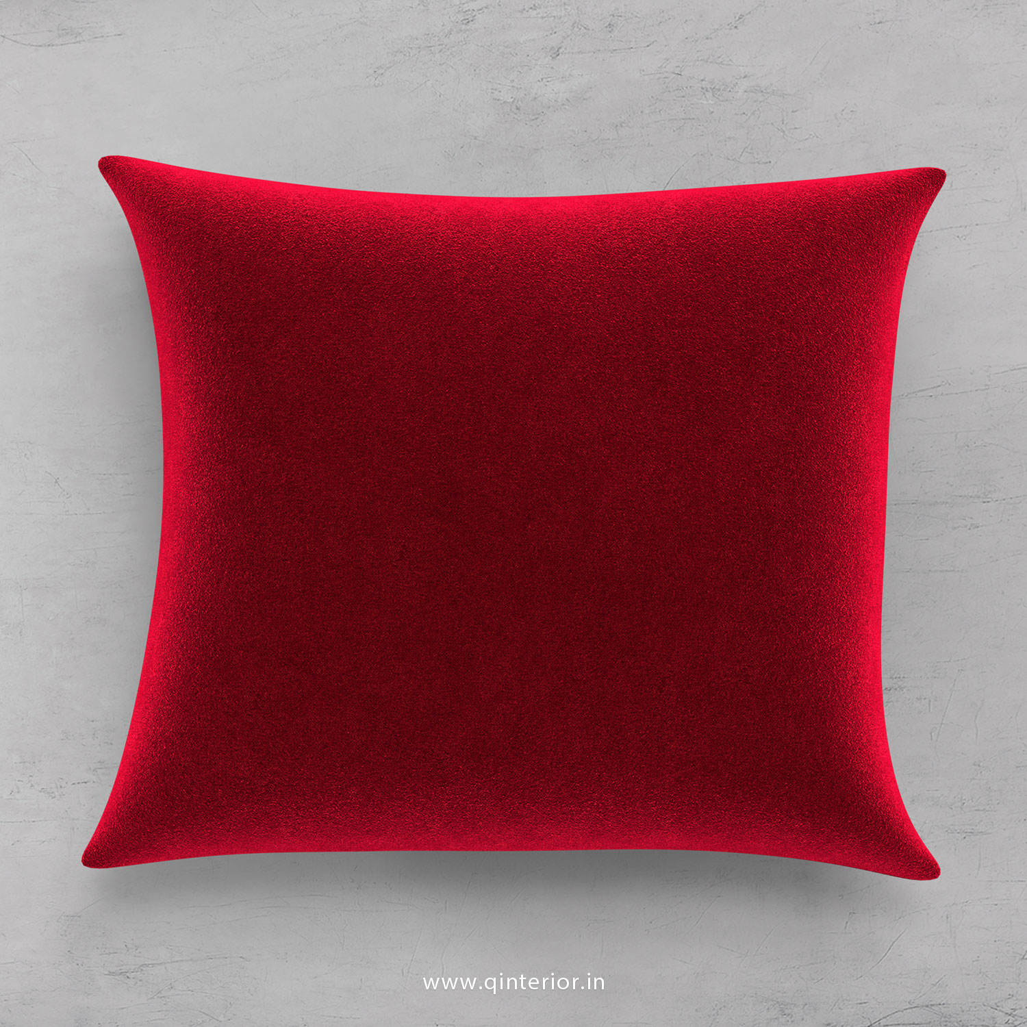 Cranberry Velvet Cushion With Cushion Cover - CUS001 FL08