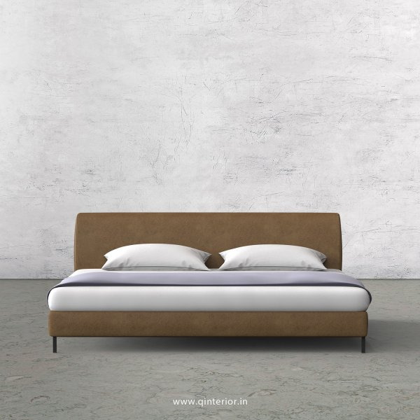 Luxura King Size Bed in Fab Leather Fabric - KBD003 FL02