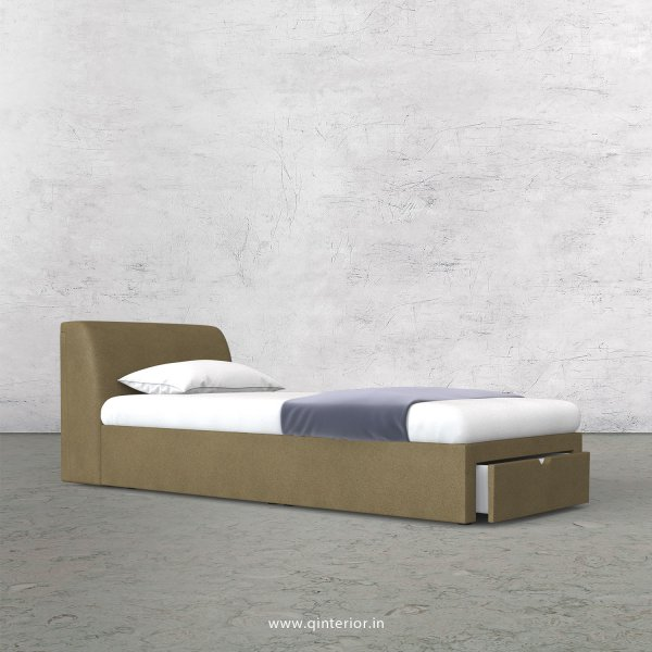 Luxura Single Storage Bed in Fab Leather Fabric - SBD001 FL01