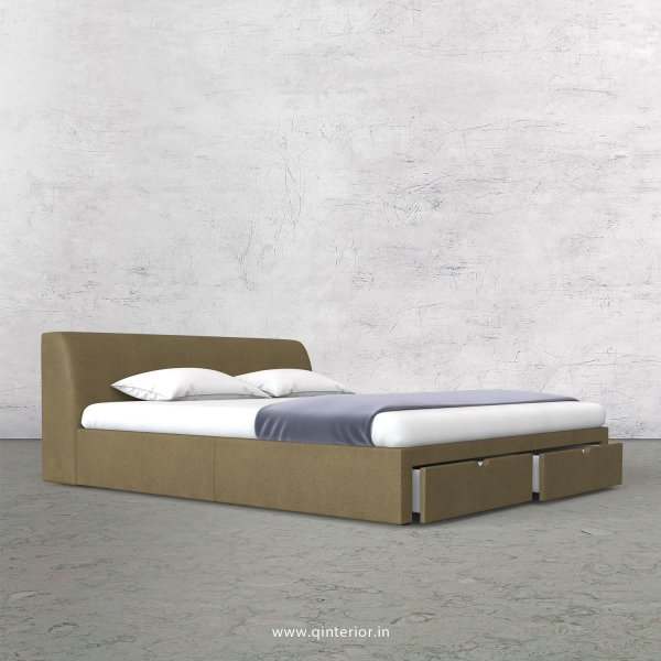Luxura Queen Storage Bed in Fab Leather Fabric - QBD001 FL01