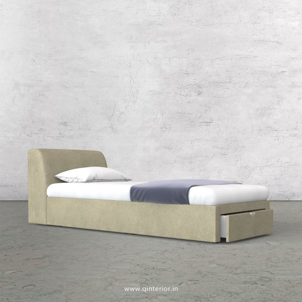 Luxura Single Storage Bed in Fab Leather Fabric - SBD001 FL10