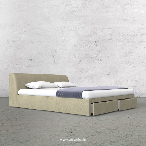 Luxura Queen Storage Bed in Fab Leather Fabric - QBD001 FL10