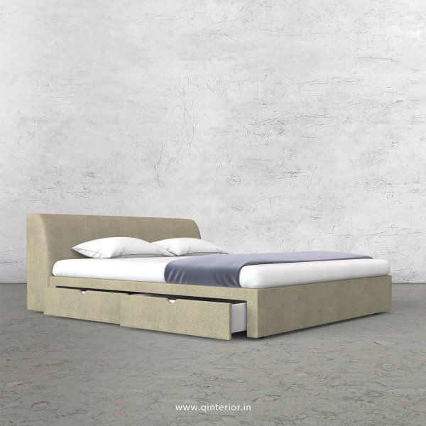 Luxura King Size Storage Bed in Fab Leather Fabric - KBD007 FL10