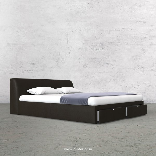 Luxura Queen Storage Bed in Fab Leather Fabric - QBD001 FL11