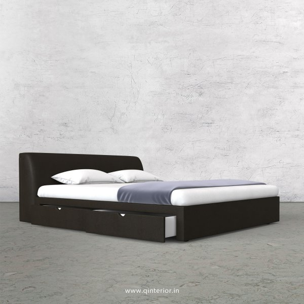 Luxura Queen Storage Bed in Fab Leather Fabric - QBD007 FL11