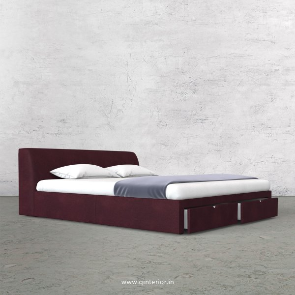 Luxura Queen Storage Bed in Fab Leather Fabric - QBD001 FL12