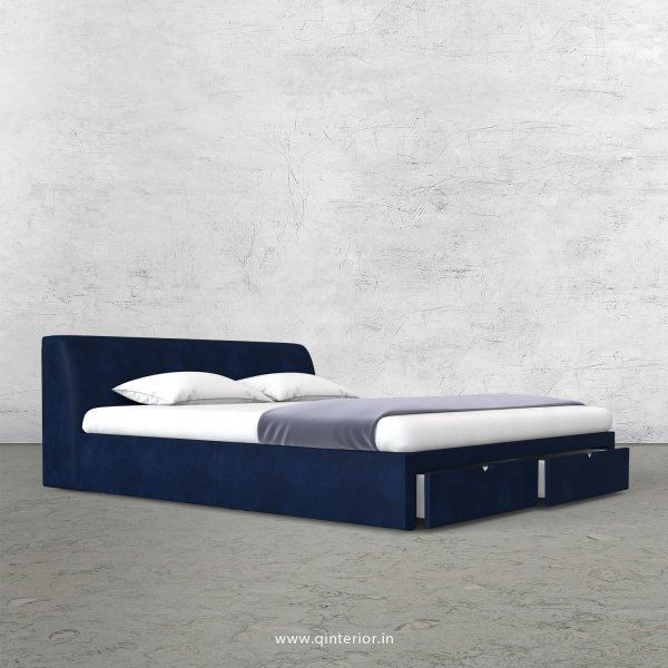 Luxura King Size Storage Bed in Fab Leather Fabric - KBD001 FL13
