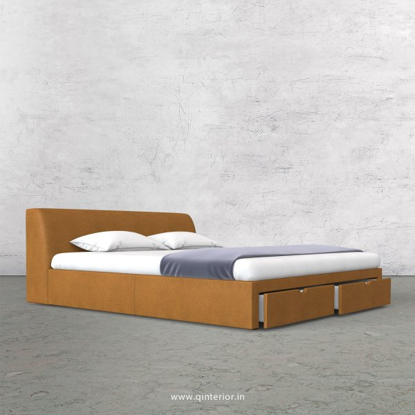 Luxura Queen Storage Bed in Fab Leather Fabric - QBD001 FL14