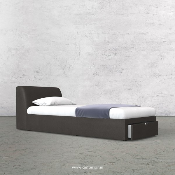 Luxura Single Storage Bed in Fab Leather Fabric - SBD001 FL15