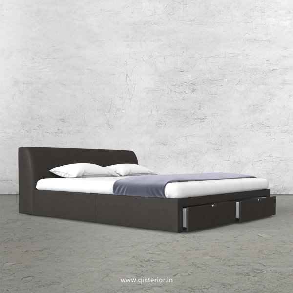 Luxura Queen Storage Bed in Fab Leather Fabric - QBD001 FL15