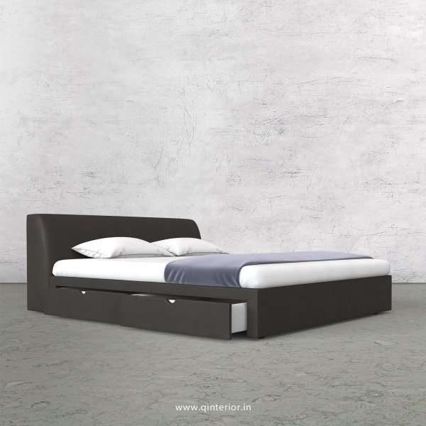 Luxura King Size Storage Bed in Fab Leather Fabric - KBD007 FL15