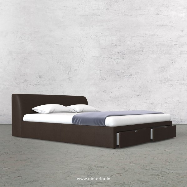 Luxura Queen Storage Bed in Fab Leather Fabric - QBD001 FL16
