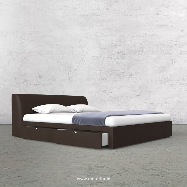 Luxura King Size Storage Bed in Fab Leather Fabric - KBD007 FL16