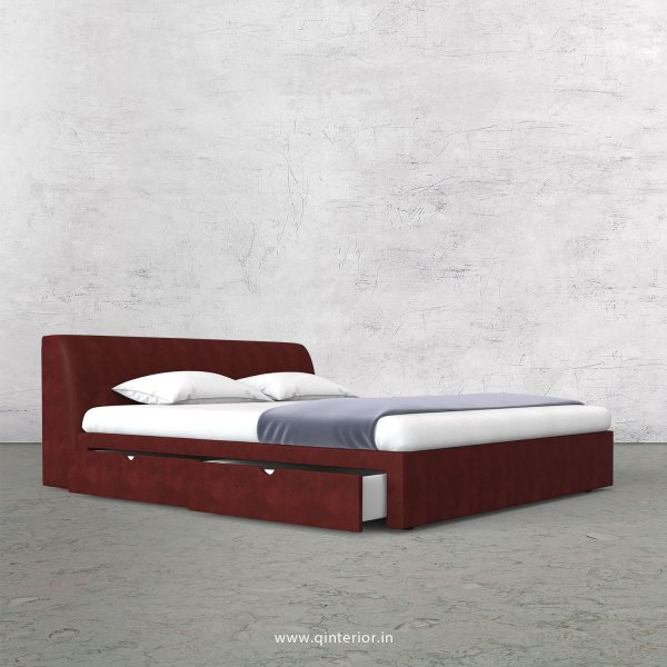 Luxura Queen Storage Bed in Fab Leather Fabric - QBD007 FL17