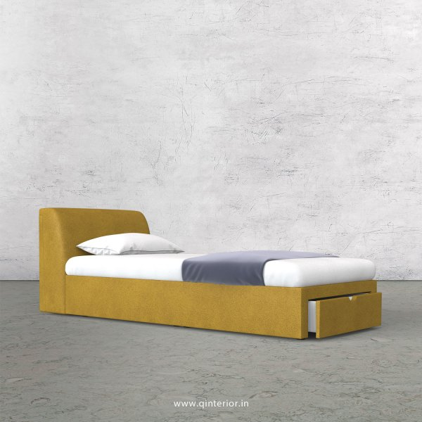 Luxura Single Storage Bed in Fab Leather Fabric - SBD001 FL18