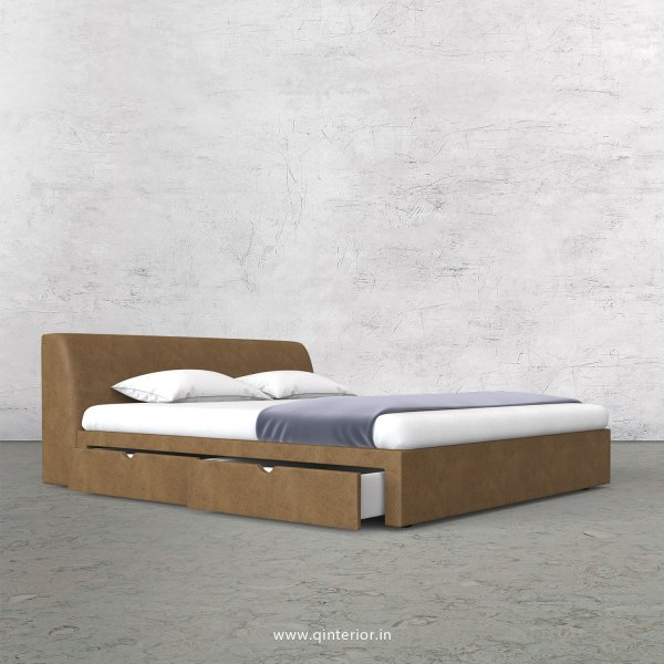 Luxura Queen Storage Bed in Fab Leather Fabric - QBD007 FL02