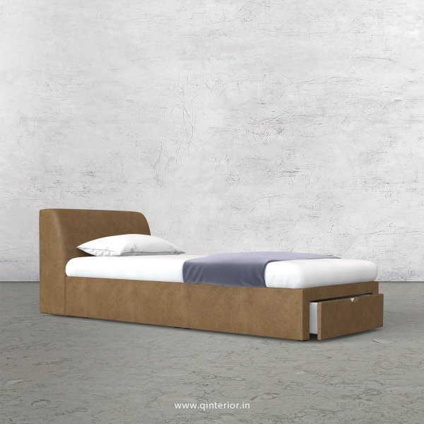 Luxura Single Storage Bed in Fab Leather Fabric - SBD001 FL02