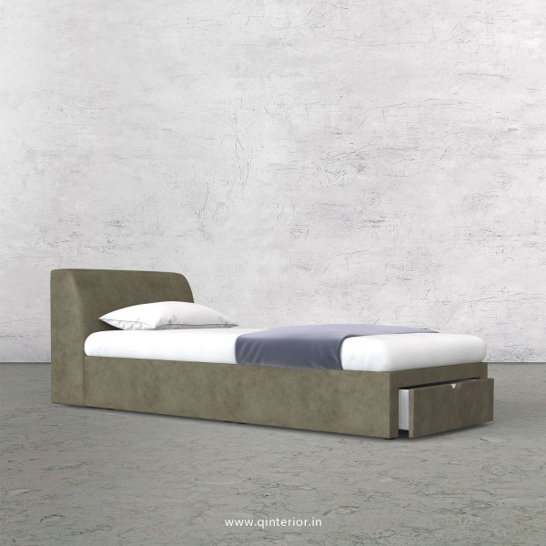 Luxura Single Storage Bed in Fab Leather Fabric - SBD001 FL03
