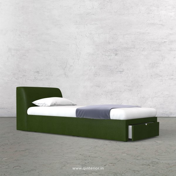 Luxura Single Storage Bed in Fab Leather Fabric - SBD001 FL04