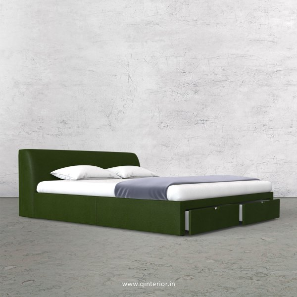 Luxura Queen Storage Bed in Fab Leather Fabric - QBD001 FL04