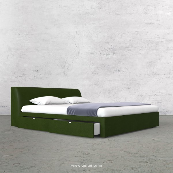 Luxura Queen Storage Bed in Fab Leather Fabric - QBD007 FL04
