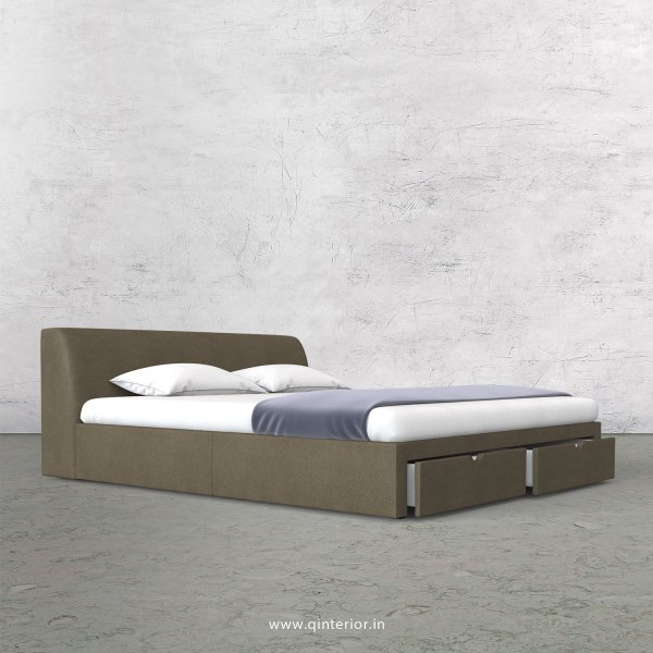 Luxura Queen Storage Bed in Fab Leather Fabric - QBD001 FL06