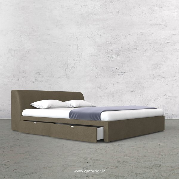 Luxura King Size Storage Bed in Fab Leather Fabric - KBD007 FL06
