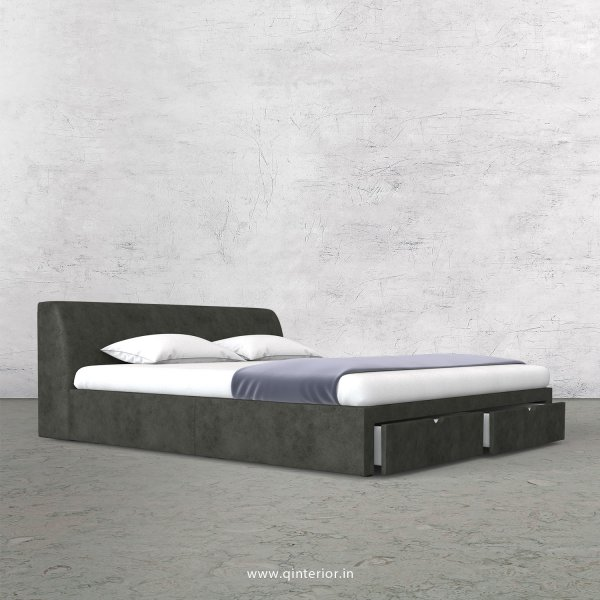 Luxura King Size Storage Bed in Fab Leather Fabric - KBD001 FL07