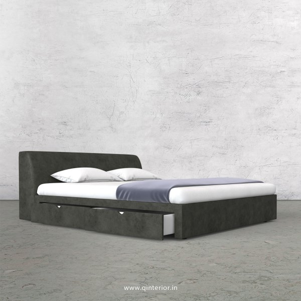 Luxura King Size Storage Bed in Fab Leather Fabric - KBD007 FL07