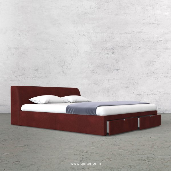Luxura Queen Storage Bed in Fab Leather Fabric - QBD001 FL08