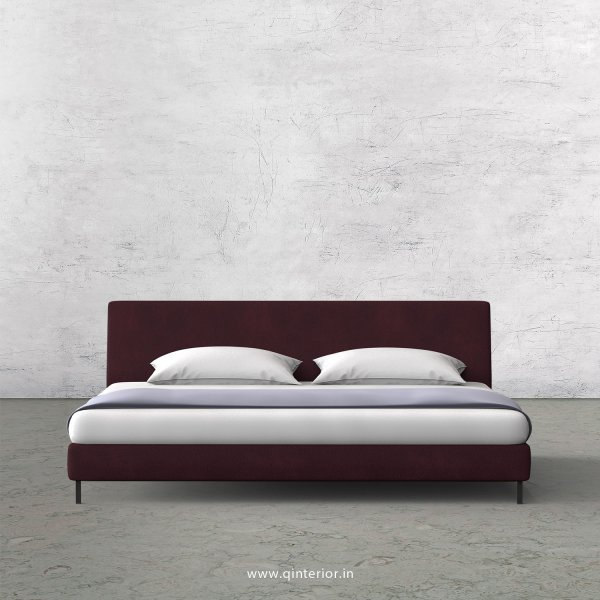 VIVA King Size Bed in Fab Leather Fabric - KBD003 FL12
