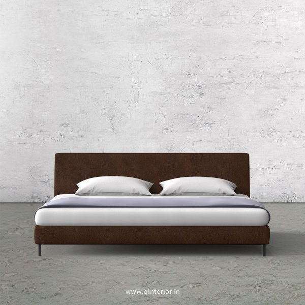 VIVA King Size Bed in Fab Leather Fabric - KBD003 FL09
