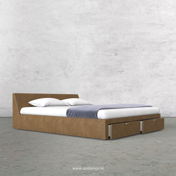 Viva Queen Storage Bed in Fab Leather Fabric - QBD007 FL02