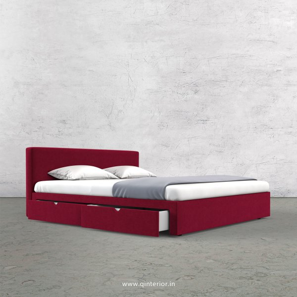 Nirvana Queen Storage Bed in Velvet Fabric - QBD008 VL08