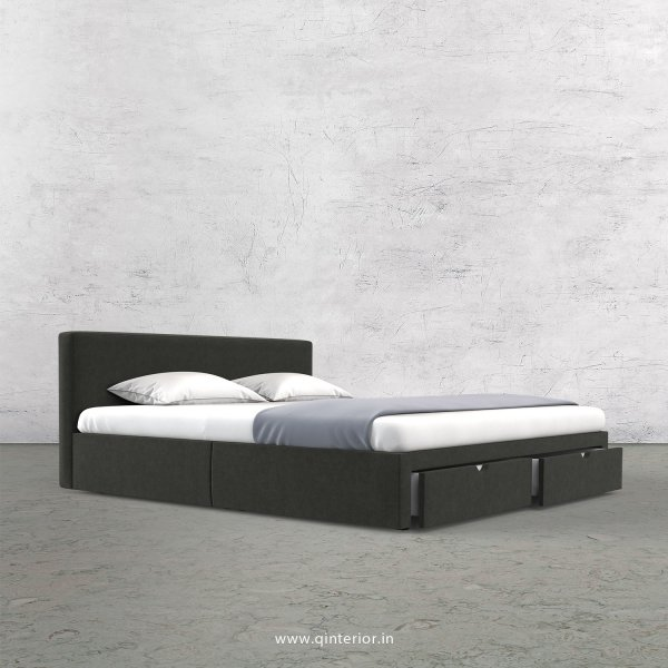 Nirvana Queen Storage Bed in Velvet Fabric - QBD001 VL07