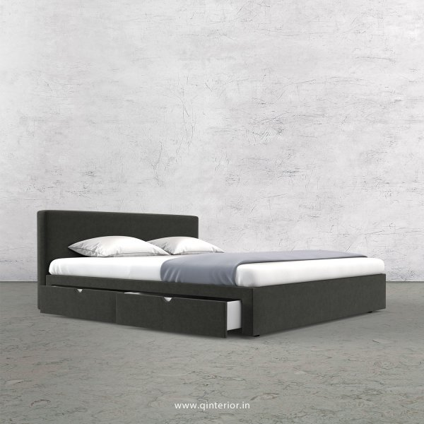 Nirvana Queen Storage Bed in Velvet Fabric - QBD008 VL15